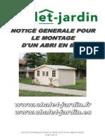 Notice de Montage Generale Cabanon Bois