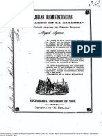 Lijeras Reminiscencias Del Campo de La Alianza. (1880)