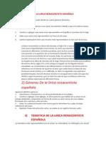Origenes de La Literatura Renacentista Española