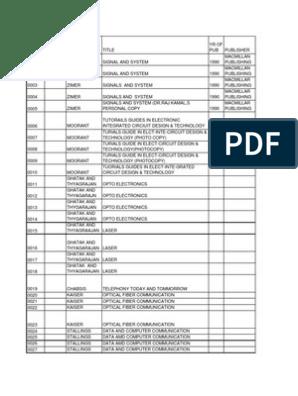 book_list   Electronics   Telecommunication