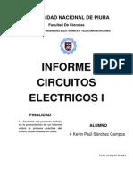 Circuitos Electricos I , Informe