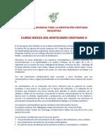 Curso Raíces Del Misticismo Cristiano II_Argentina