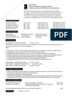Sales Manager Resume Template 2