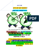Whats My Net Worth, Investing in God, Based on Good by Vanderkok 101208