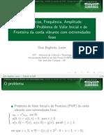 Solução PVIF extremidades fixas - EDP da onda