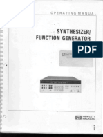 HP 3325A Synthesizer Function Generator Operating Manual