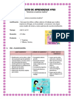 Proyecto de Aprendizaje Nº03 de Mamá