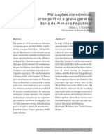 Flutuações econômicas, crise política e greve geral na Bahia da Primeira República1