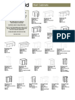 Specifications Wall Cabinets