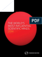 World Most Influential Scientific Minds 2014