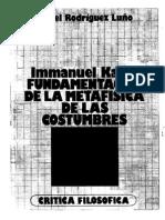 Ángel Rodríguez Luño - Immanuel Kant. Fundamentación de La Metafísica de Las Costumbres