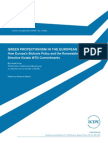 Green Protectionism in the European Union