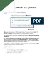 ___Listado de 140 Comandos Para Ejecutar en Windows
