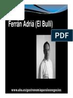 Documento de Ferran Adria
