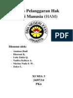 Makalah Pkn Pelanggaran Hak Asasi Manusia Ham Kelas Xi Sman 34 Jakarta Lulu Zakia