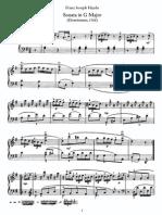 Piano Sonata No 8 in G