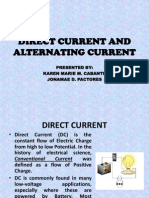Direct Current and Alternating Current
