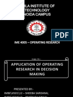 Operating research