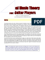 A Practical Music Theory for Guitar Players