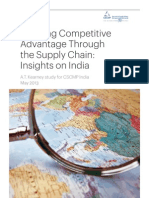 Creating Competitive Advantage Through the Supply Chain - Insights on India