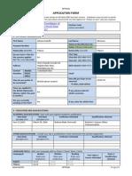 Application Form APAC