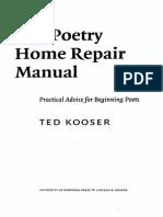 Poetry Home Repair Manual - Ted Kooser
