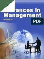 Advances in Management September 2012