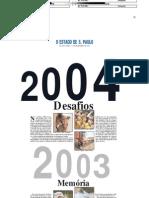Retrospectiva Estadão - 2003