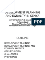 Development Planning and Equality in Kenya