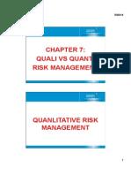 PM - Chapter 7 - Quanti vs Quali Risk