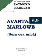 Raymond Chandler - Avantaj Marlowe