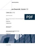 Spanish Technical Report CMMI v 1 3