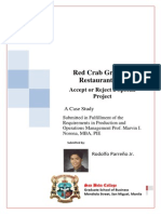 Case Problem- Red Crab Group of Restaurant