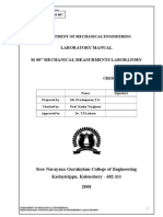 Mechanical Measurements Lab manual