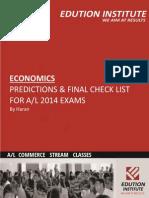 AL 2014 Economics_ Predictions for Exam