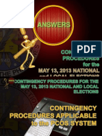 Contingency Procedures (Philippines Elections 2013)