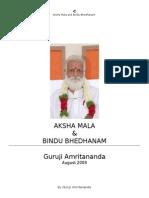 Aksha mala bindu bhedanam