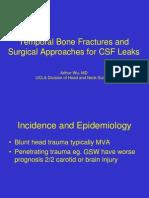 Temporal Bone Fractures Arthur Wu 1-27-10
