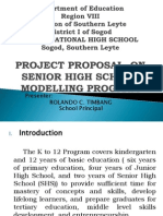 Proposal on Senior High School Modelling Program