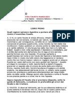 Contro Fausto Manicheo - Agostino