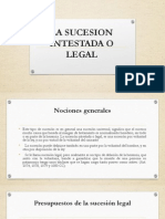 La Sucesion Intestada o Legal