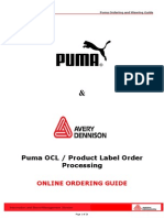 Avery Puma Order Processing Manual.