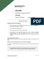 BUS488 Examination - January 2014 Semester