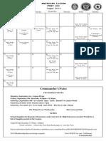 Legion Calendar August 2014