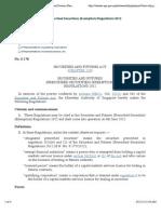 178 - Securities and Futures (Prescribed Securities) (Exemption) Regulations 2012