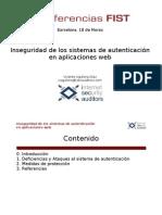 Inseguridad Autenticacion Aplicaciones Web