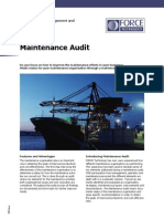 Maintenance Audit