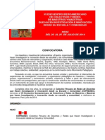 VII Iberoamericano 2014 Peru Convocatoria