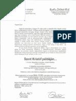 Levél Paulus Alajos és Juhos László