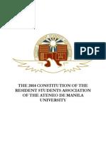 2014 ARSA Constitution Changes